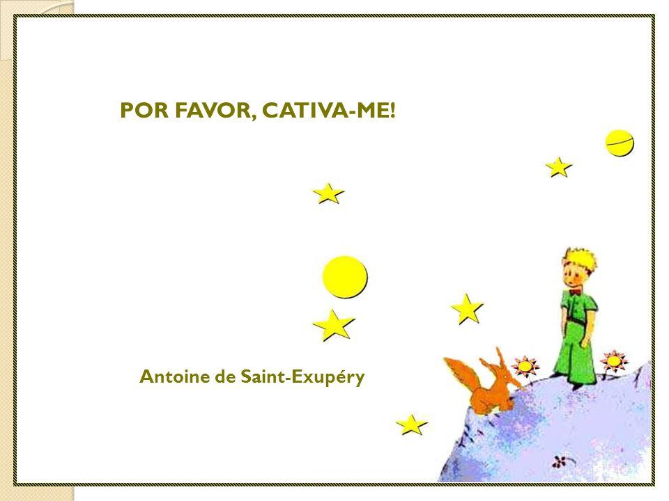 POR FAVOR, CATIVA-ME! Antoine de Saint-Exupéry
