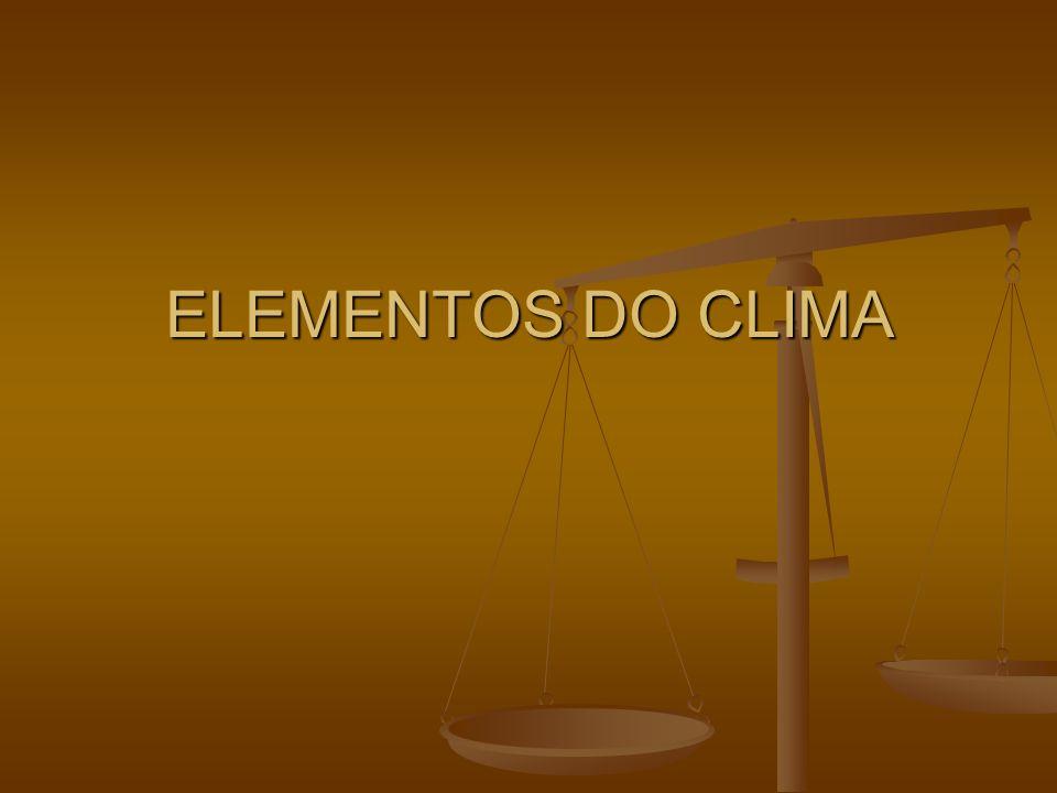 ELEMENTOS DO CLIMA