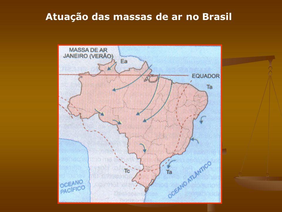 Atuação das massas de ar no Brasil