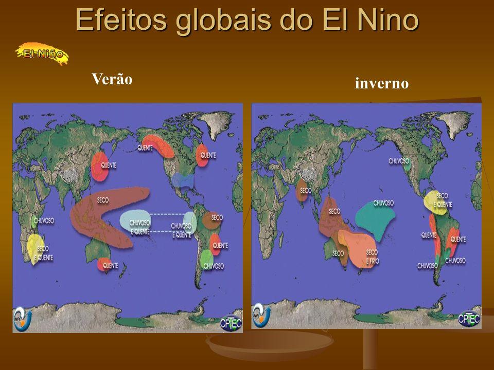 Efeitos globais do El Nino Verão inverno