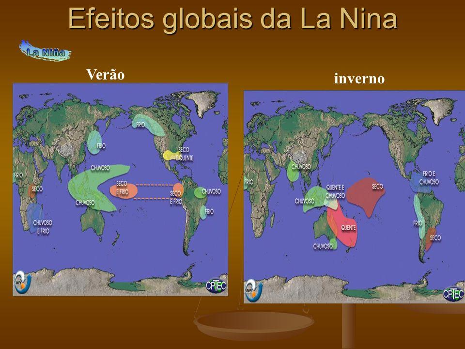 Efeitos globais da La Nina Verão inverno