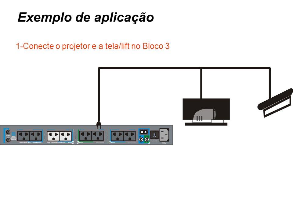 Com o DMA Ligado, por qq via: Automação - Integração Comandando o Bloco 3 Um trem com 6 pulsos no Trigger IN, o Bloco 3 será Desenergizado.