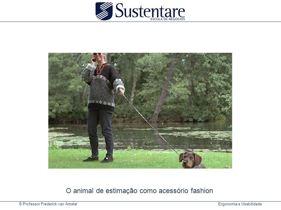 © Professor Frederick van Amstel Ergonomia e Usabilidade O animal de estimação como acessório fashion