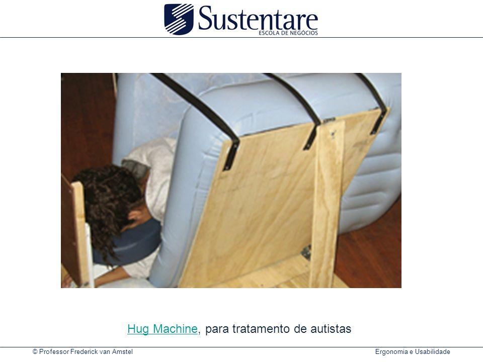 © Professor Frederick van Amstel Ergonomia e Usabilidade Hug MachineHug Machine, para tratamento de autistas