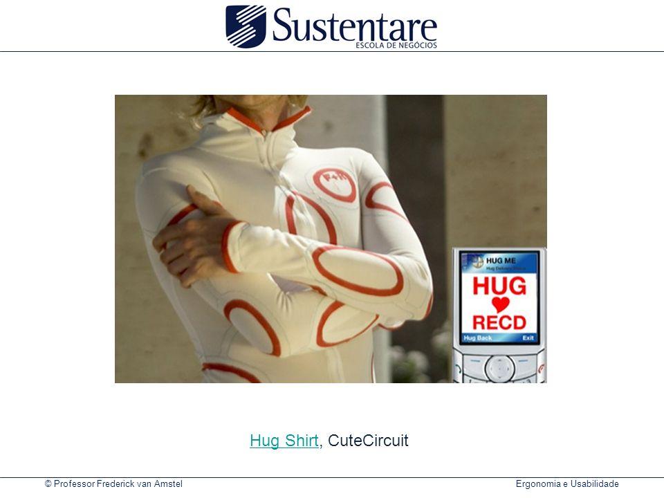 © Professor Frederick van Amstel Ergonomia e Usabilidade Hug ShirtHug Shirt, CuteCircuit