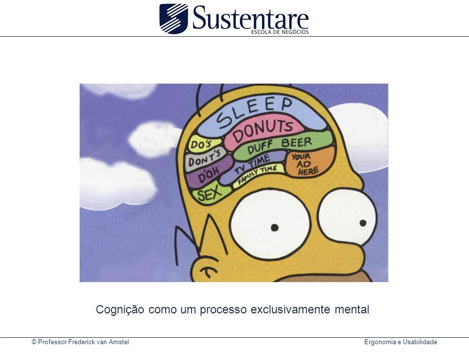 © Professor Frederick van Amstel Ergonomia e Usabilidade Cognição como um processo exclusivamente mental