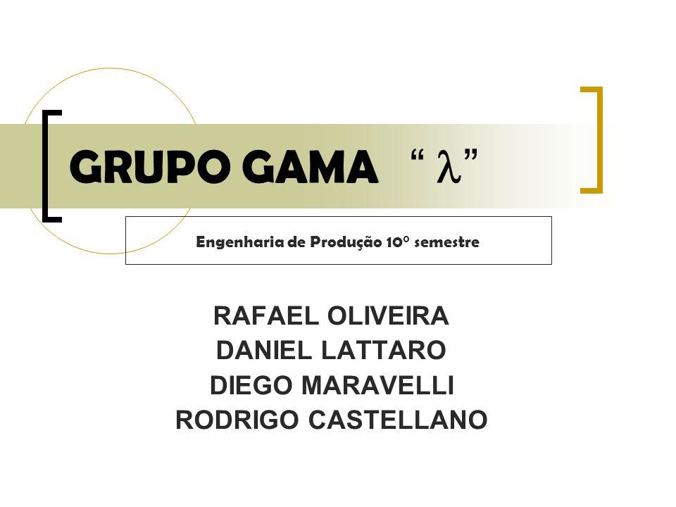 RAFAEL OLIVEIRA DANIEL LATTARO DIEGO MARAVELLI RODRIGO CASTELLANO GRUPO GAMA Engenharia de Produção 10° semestre