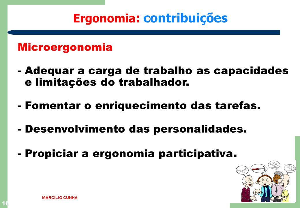 15 Ergonomia : contribuições Macroergonomia No diálogo social em condições de trabalho, - No diálogo social em condições de trabalho, segurança e saúd