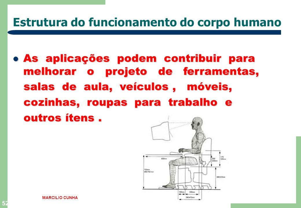 51 Estrutura do funcionamento do corpo humano Os estudos baseados em medidas dinâmicas Os estudos baseados em medidas dinâmicas contribuem para o conf