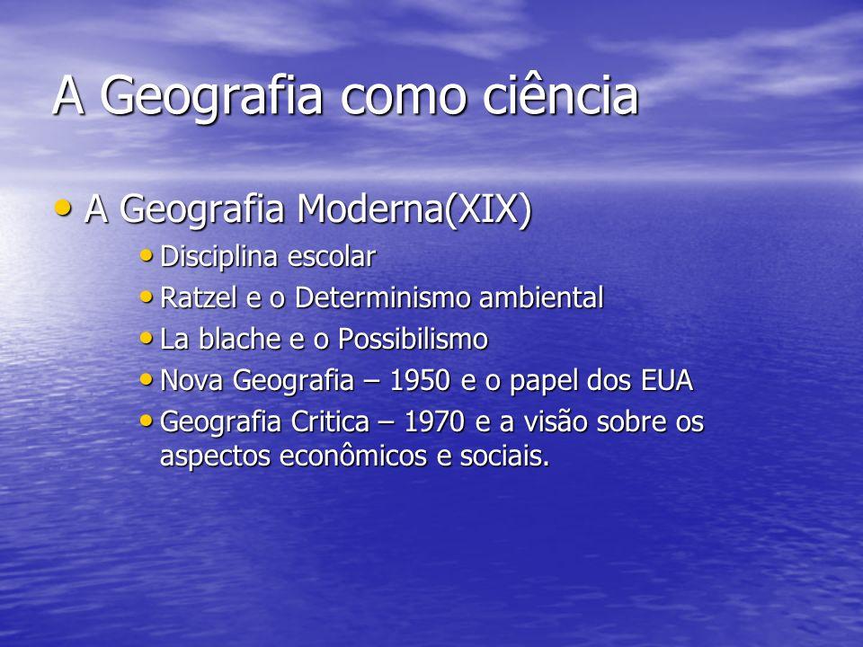 Espaço geográfico e suas categorias Espaço – meio concreto de que a humanidade dispõe para produzir e transformar a natureza.