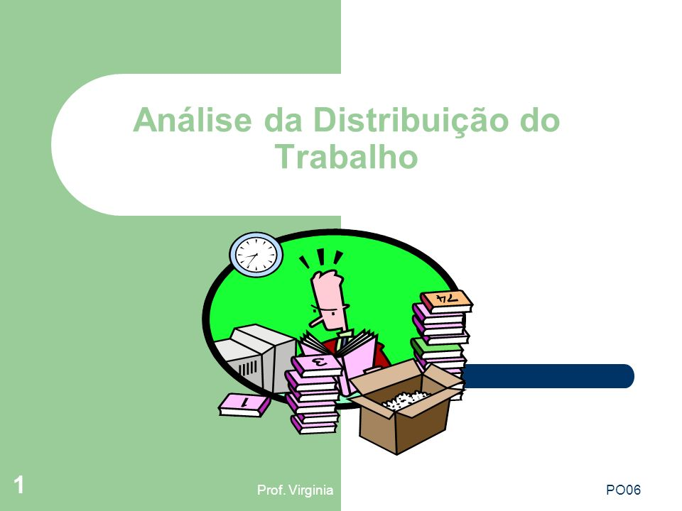 Prof. VirginiaPO06 1 Análise da Distribuição do Trabalho