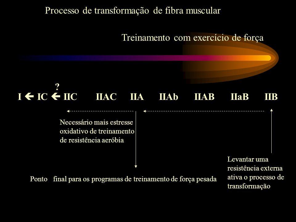 I IC IIC IIAC IIA IIAb IIAB IIaB IIB Levantar uma resistência externa ativa o processo de transformação Necessário mais estresse oxidativo de treiname