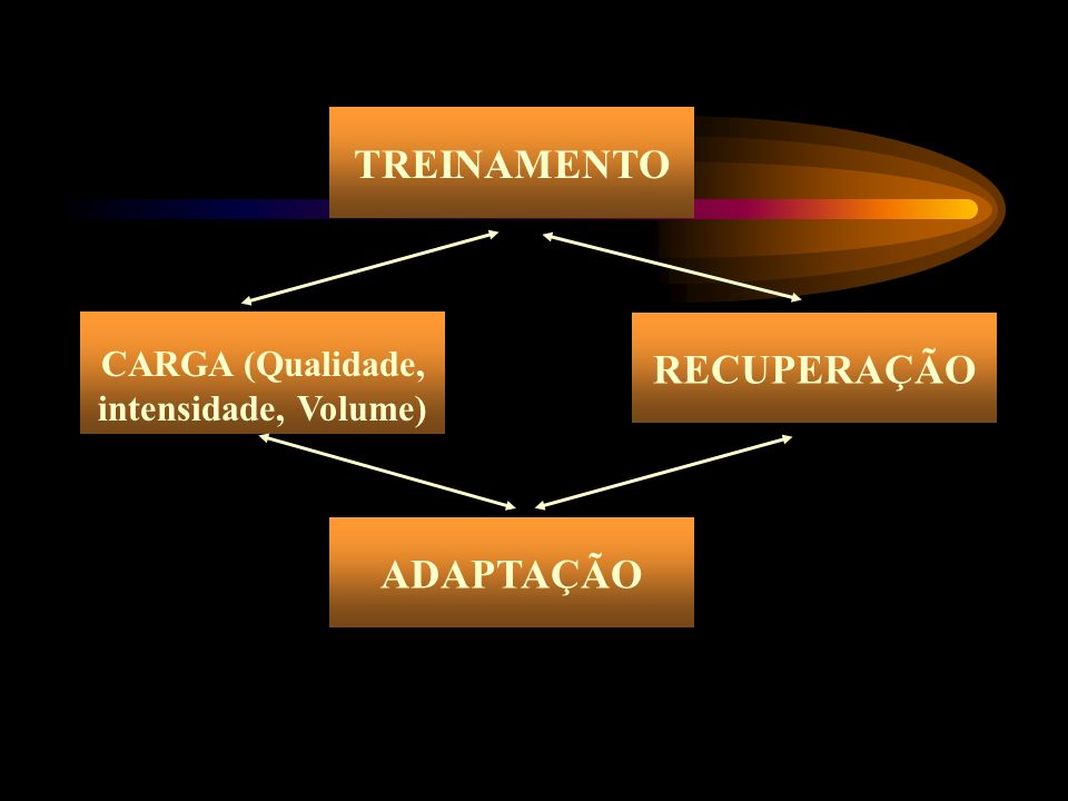 TREINAMENTO ADAPTAÇÃO CARGA (Qualidade, intensidade, Volume) RECUPERAÇÃO