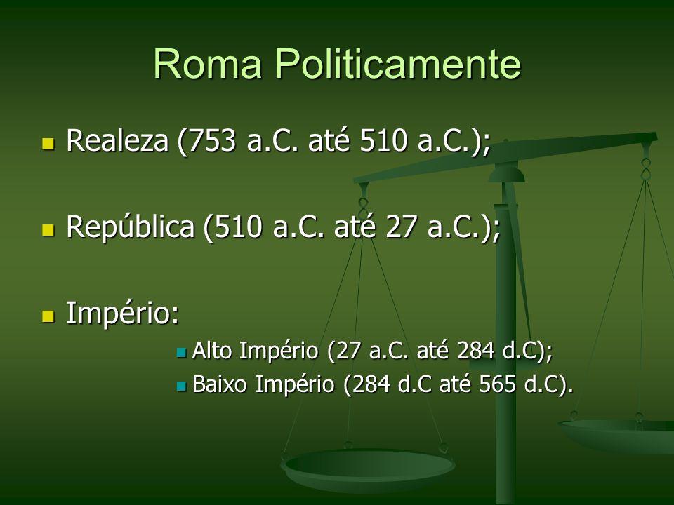 Com o Fortalecimento do Estado de Roma Condições para vingança: em flagrante delito; Condições para vingança: em flagrante delito; Represálias limitadas ao Princípio da Pena de Talião ou numa Compensação Pecuniária.