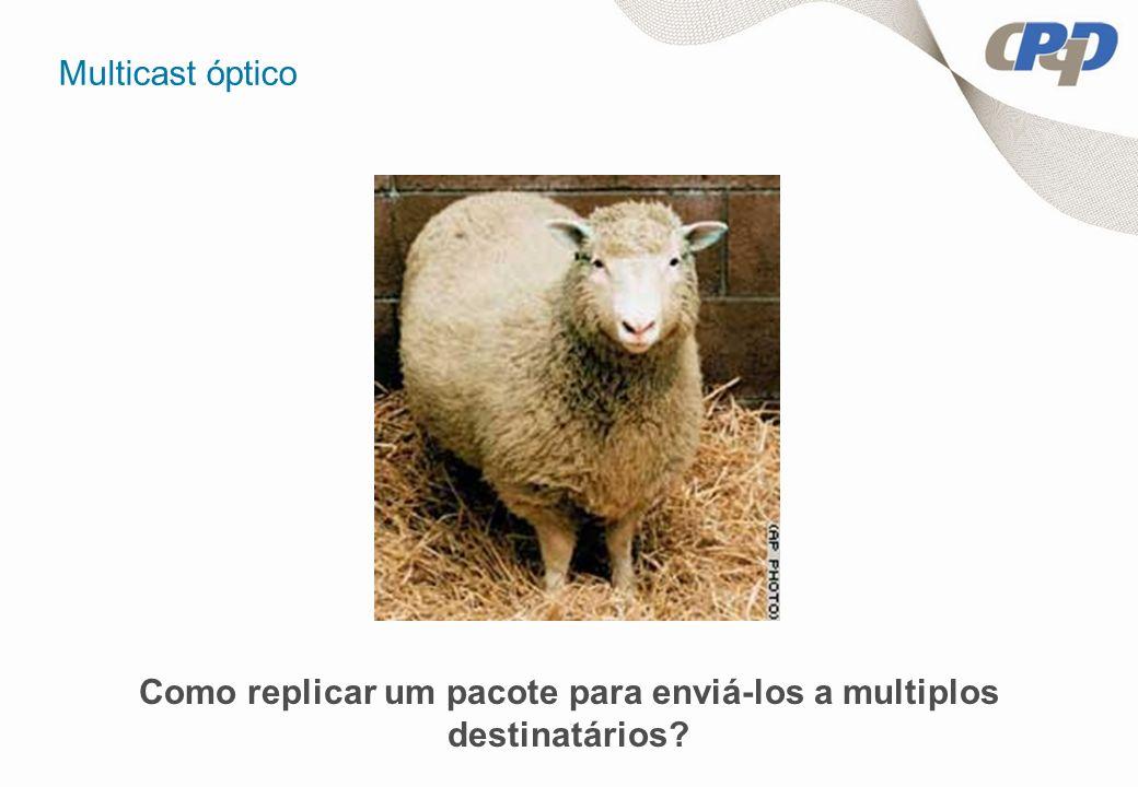 Multicast óptico Como replicar um pacote para enviá-los a multiplos destinatários?