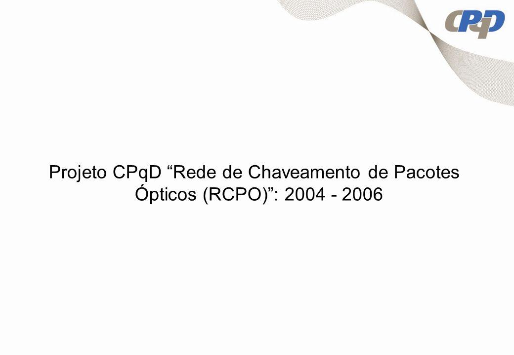 Projeto CPqD Rede de Chaveamento de Pacotes Ópticos (RCPO): 2004 - 2006