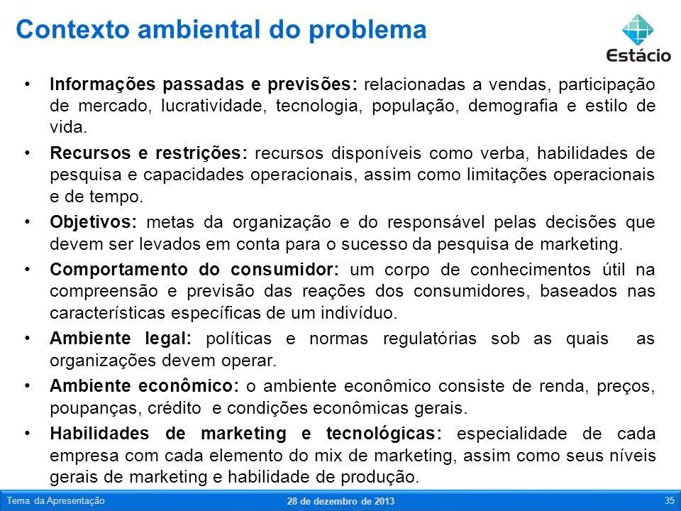 Informações passadas e previsões: relacionadas a vendas, participação de mercado, lucratividade, tecnologia, população, demografia e estilo de vida. R