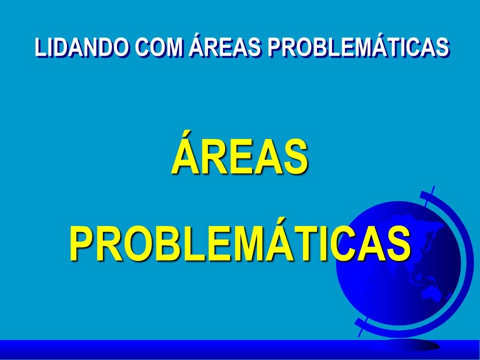LIDANDO COM ÁREAS PROBLEMÁTICAS ÁREASPROBLEMÁTICASÁREASPROBLEMÁTICAS