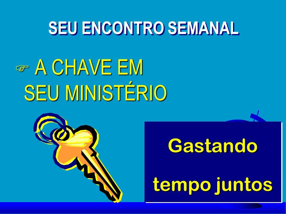 F A CHAVE EM SEU MINISTÉRIO SEU ENCONTRO SEMANAL Gastando tempo juntos