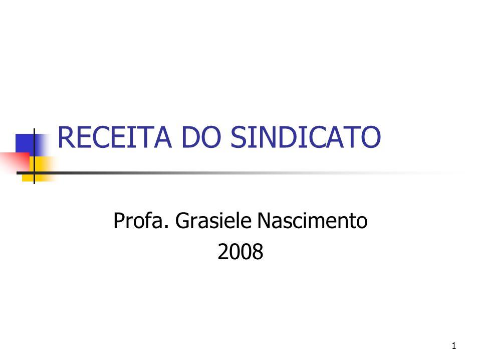2 RECEITA DO SINDICATO 1) Contribuição Sindical (art.8º,IV, CF c/c arts.