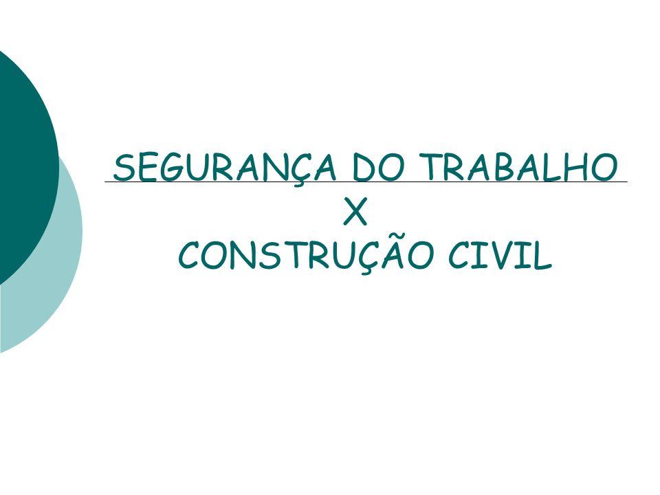 SEGURANÇA DO TRABALHO X CONSTRUÇÃO CIVIL