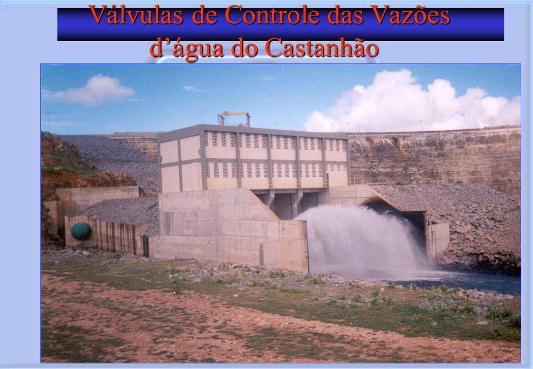 Válvulas de Controle das Vazões dágua do Castanhão Válvulas de Controle das Vazões dágua do Castanhão