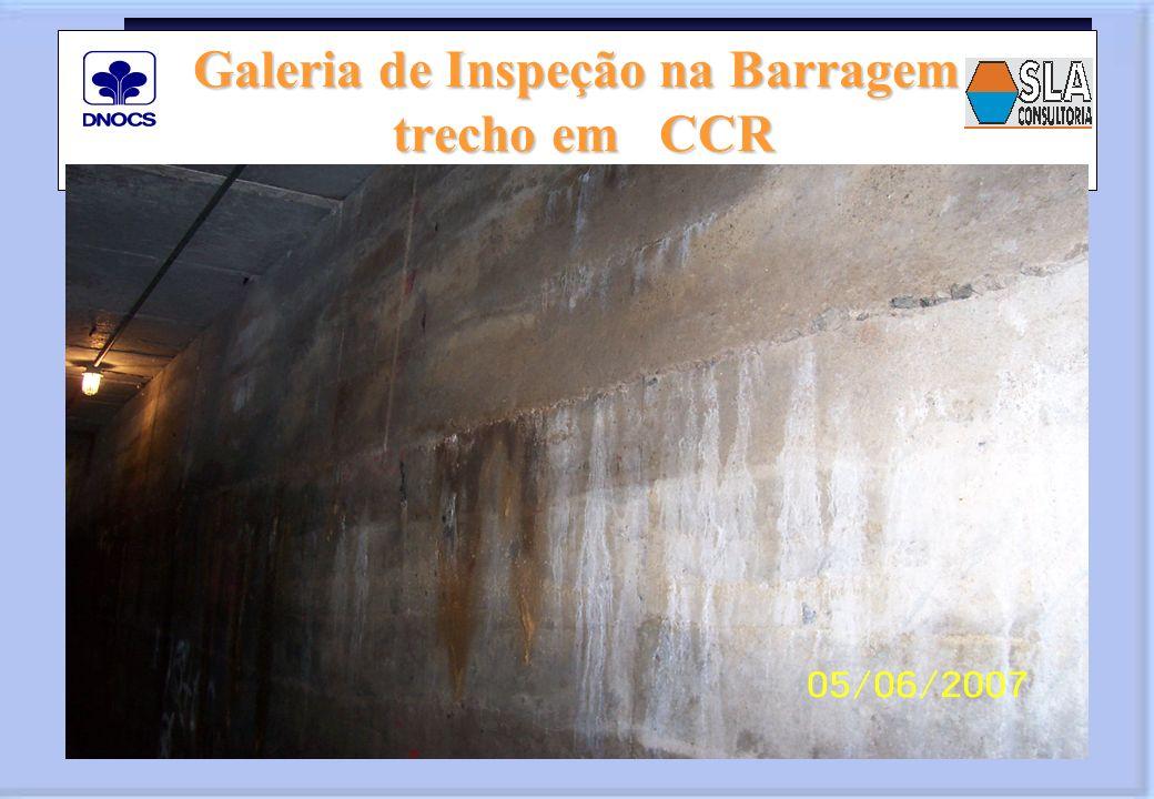 Galeria de Inspeção na Barragem trecho em CCR