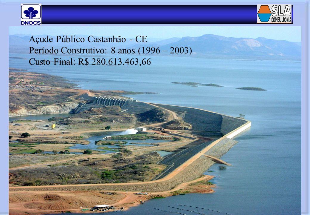 Manutenção nos Equipamentos de Acionamento das Válvulas Dispersoras Açude Público Castanhão - CE Período Construtivo: 8 anos (1996 – 2003) Custo Final