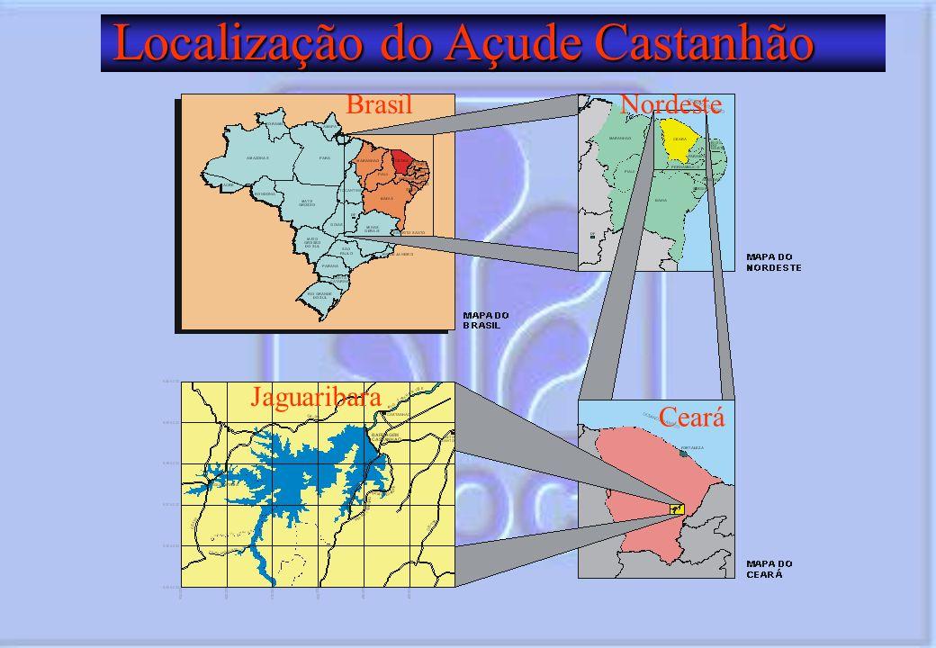 Localização do Açude Castanhão Localização do Açude Castanhão Ceará Brasil Jaguaribara Nordeste