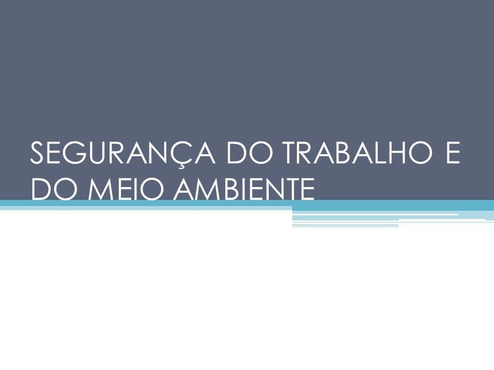 SEGURANÇA DO TRABALHO E DO MEIO AMBIENTE