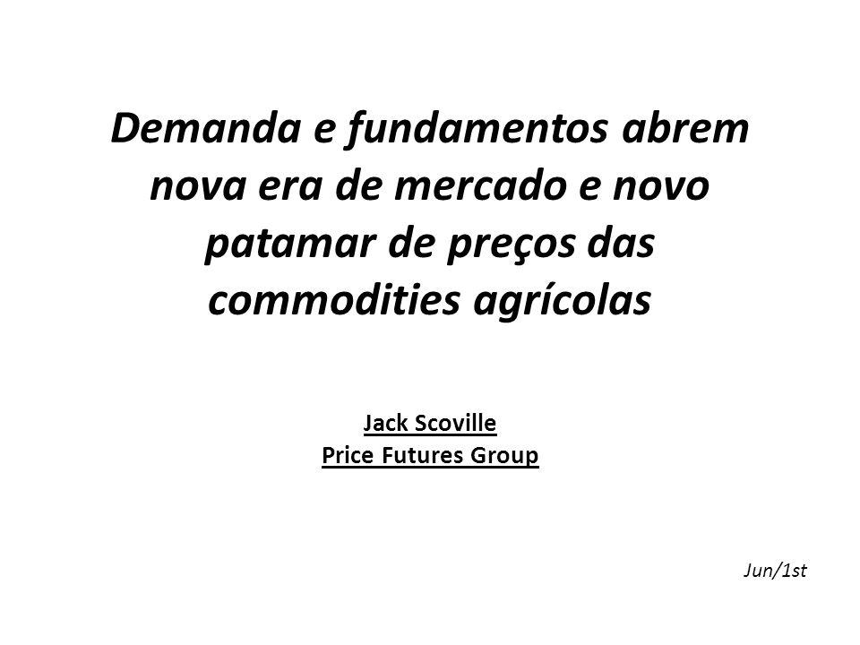 Demanda e fundamentos abrem nova era de mercado e novo patamar de preços das commodities agrícolas Jack Scoville Price Futures Group Jun/1st