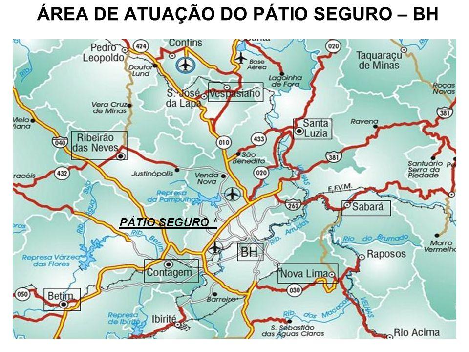 ÁREA DE ATUAÇÃO DO PÁTIO SEGURO – BH PÁTIO SEGURO *