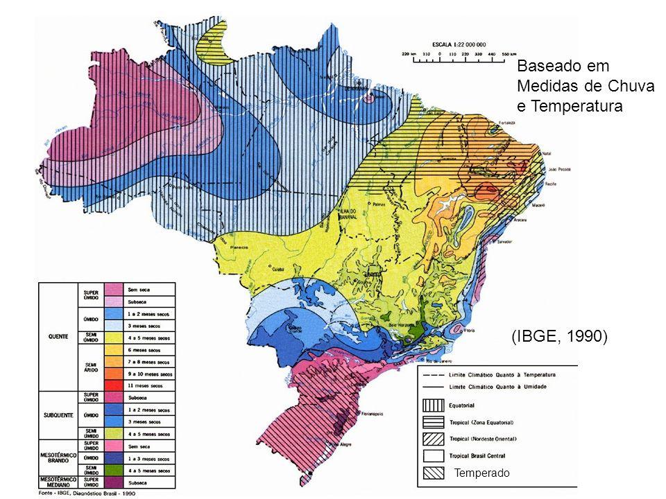 (IBGE, 1990) Temperado Baseado em Medidas de Chuva e Temperatura