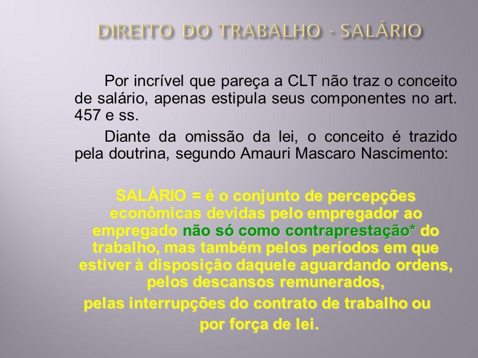 REGRAS GERAIS DE PROTEÇÃO AO SALÁRIO 1) PERIODICIDADE DO PAGAMENTO = Art.