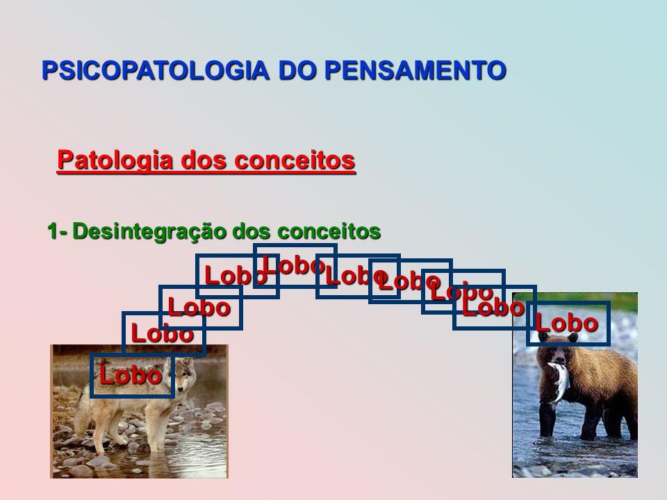 PSICOPATOLOGIA DO PENSAMENTO Patologia dos conceitos 1- Desintegração dos conceitos Lobo Lobo Lobo Lobo Lobo Lobo Lobo Lobo Lobo Lobo