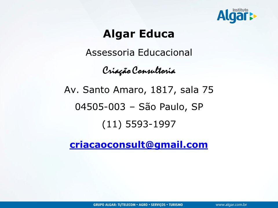 Algar Educa Assessoria Educacional Criação Consultoria Av.