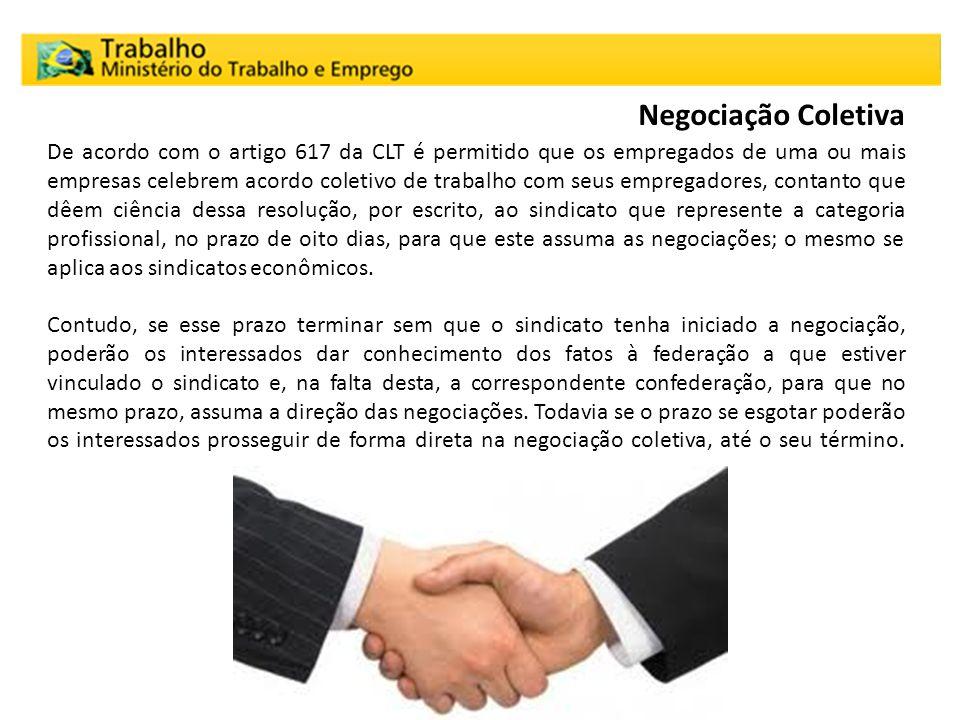 De acordo com o artigo 617 da CLT é permitido que os empregados de uma ou mais empresas celebrem acordo coletivo de trabalho com seus empregadores, co