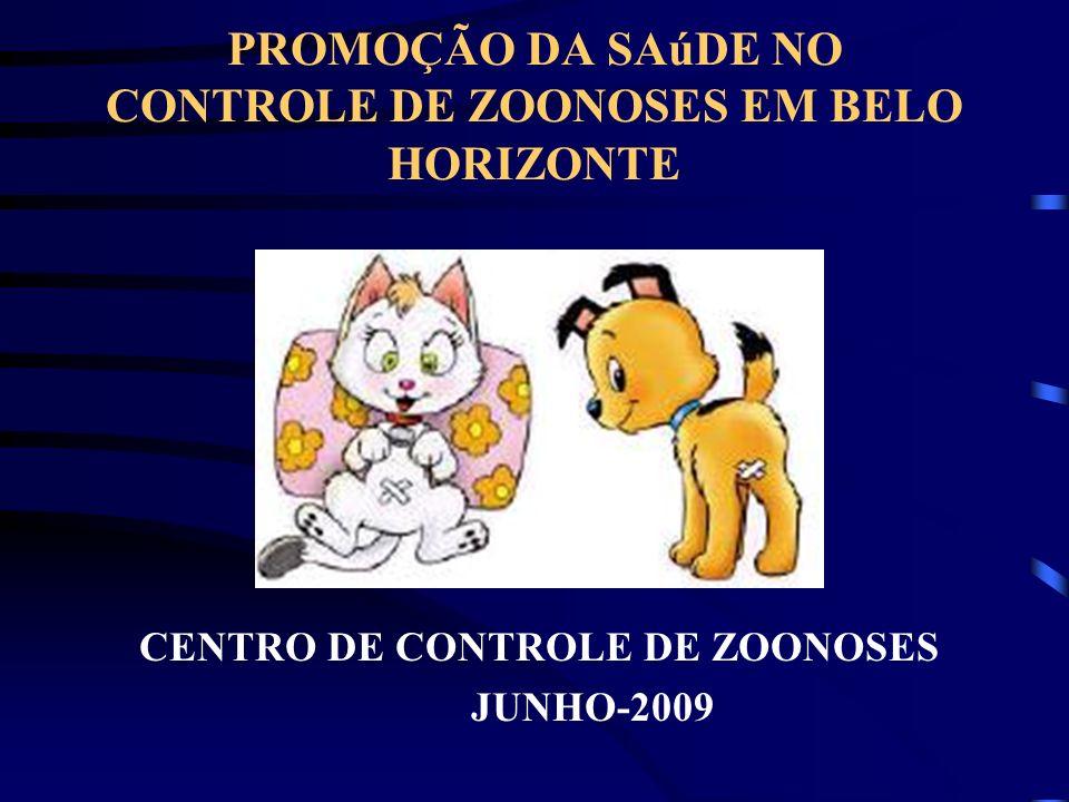 PROMOÇÃO DA SAúDE NO CONTROLE DE ZOONOSES EM BELO HORIZONTE CENTRO DE CONTROLE DE ZOONOSES JUNHO-2009