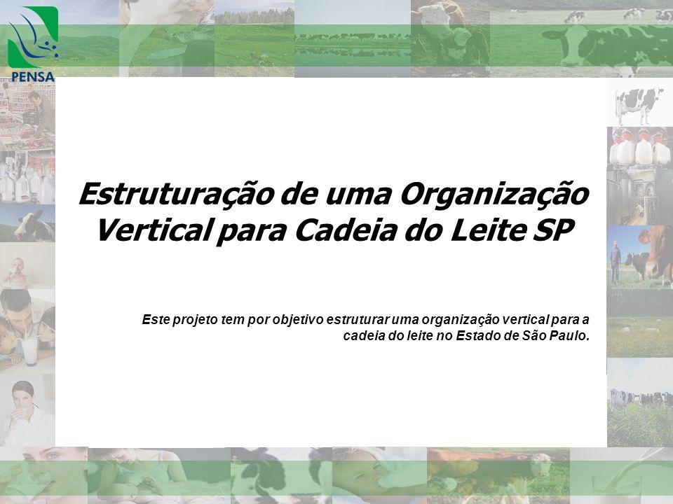 Estruturação de uma Organização Vertical para Cadeia do Leite SP Este projeto tem por objetivo estruturar uma organização vertical para a cadeia do le