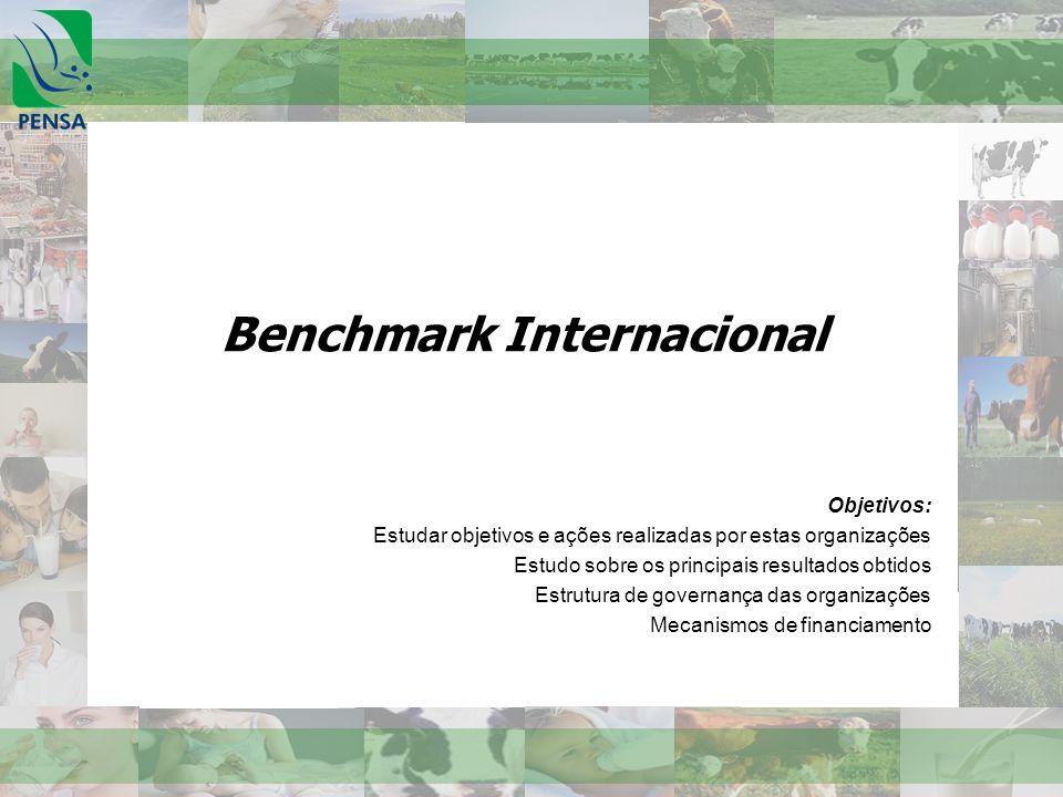 Benchmark Internacional Objetivos: Estudar objetivos e ações realizadas por estas organizações Estudo sobre os principais resultados obtidos Estrutura