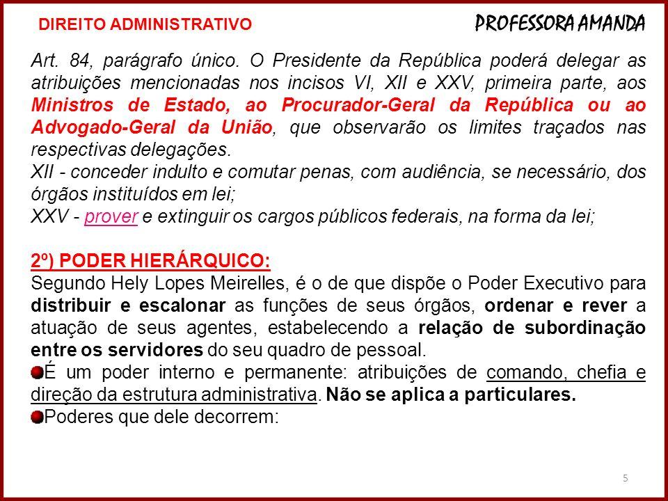 5 Art. 84, parágrafo único. O Presidente da República poderá delegar as atribuições mencionadas nos incisos VI, XII e XXV, primeira parte, aos Ministr