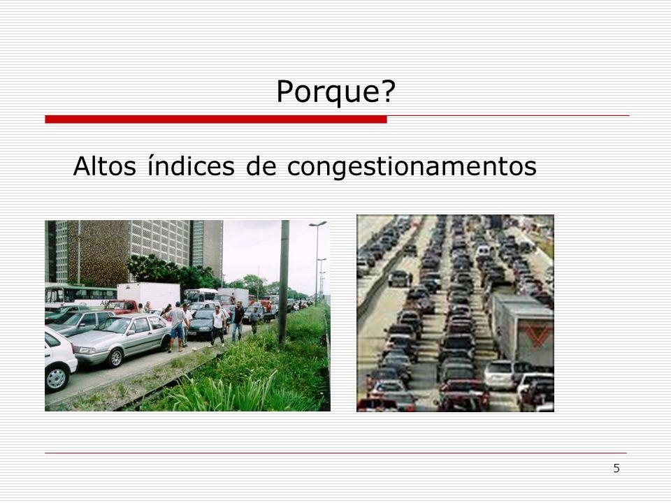5 Porque? Altos índices de congestionamentos