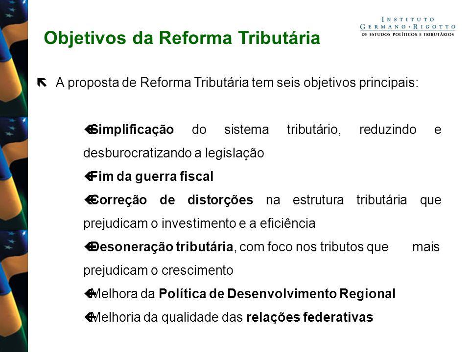 Objetivos da Reforma Tributária A proposta de Reforma Tributária tem seis objetivos principais: Simplificação do sistema tributário, reduzindo e desbu