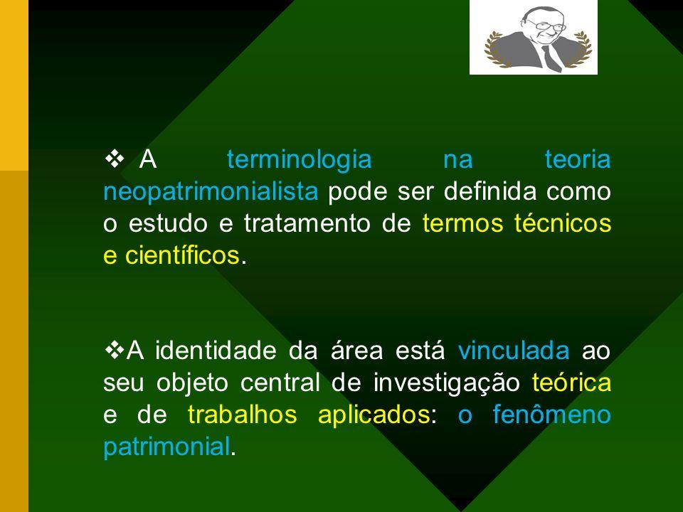 A presente pesquisa evidencia que o Neopatrimonialismo contábil de Lopes de Sá contém em sua estrutura as três logias: a terminologia, a metodologia e