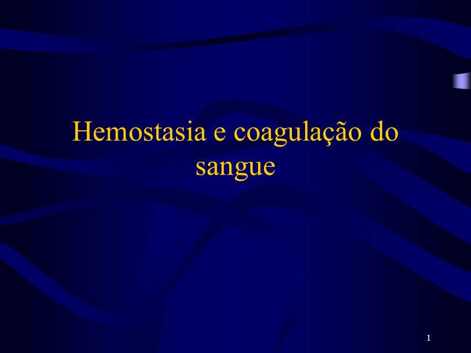 1 Hemostasia e coagulação do sangue