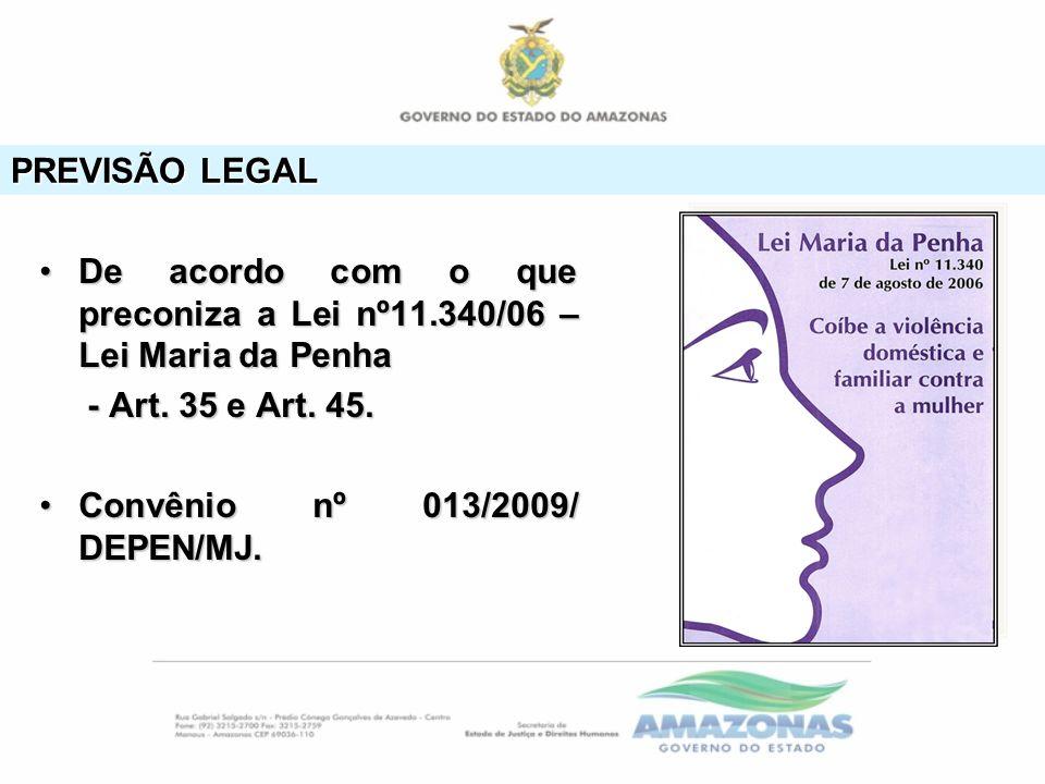 PREVISÃO LEGAL De acordo com o que preconiza a Lei nº11.340/06 – Lei Maria da PenhaDe acordo com o que preconiza a Lei nº11.340/06 – Lei Maria da Penh