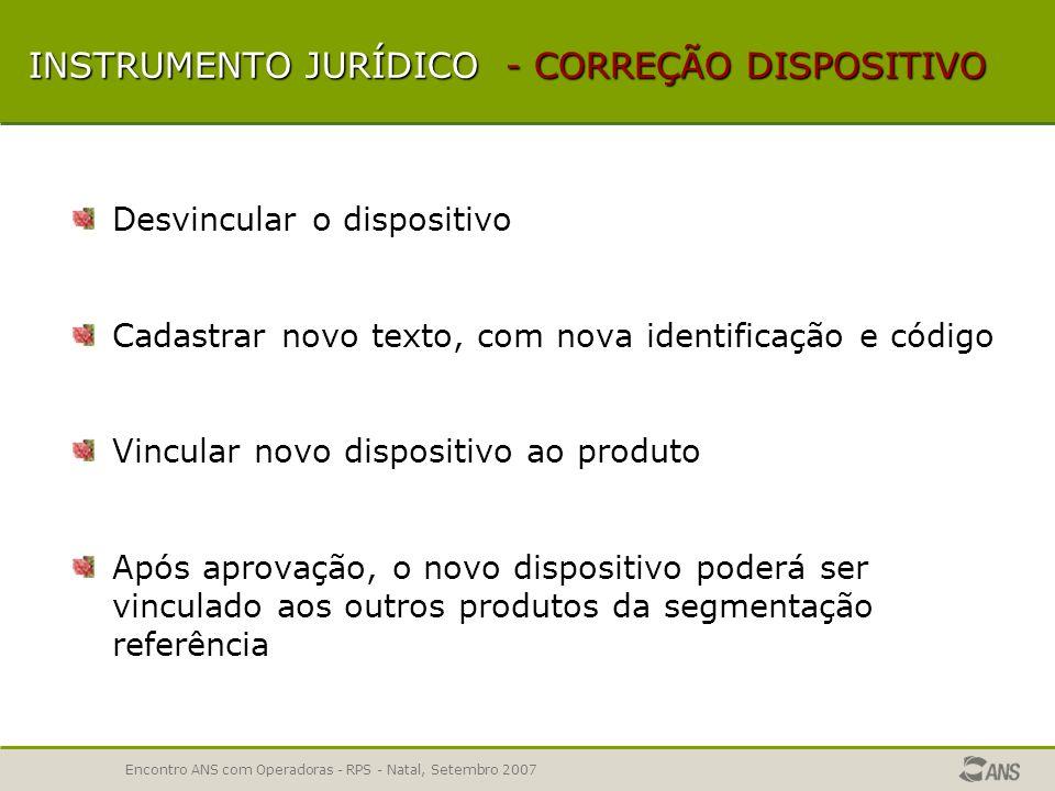 Encontro ANS com Operadoras - RPS - Natal, Setembro 2007 MECANISMOS DE REGULAÇÃO ERROS COMUNS Previsão de fator moderador em forma de percentual em in