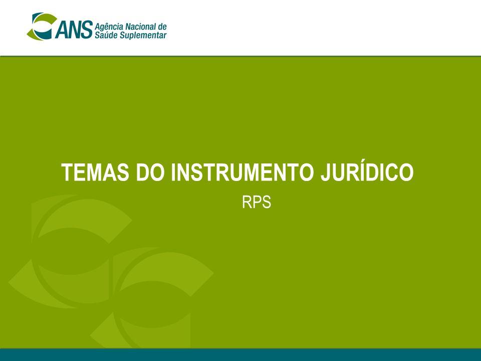 Encontro ANS com Operadoras - RPS - Natal, Setembro 2007 INSTRUMENTO JURÍDICO Análise em duas etapas Primeira etapa- denominada Instrumento Jurídico,