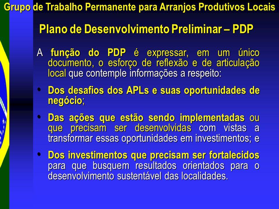 A função do PDP é expressar, em um único documento, o esforço de reflexão e de articulação local que contemple informações a respeito: Dos desafios do