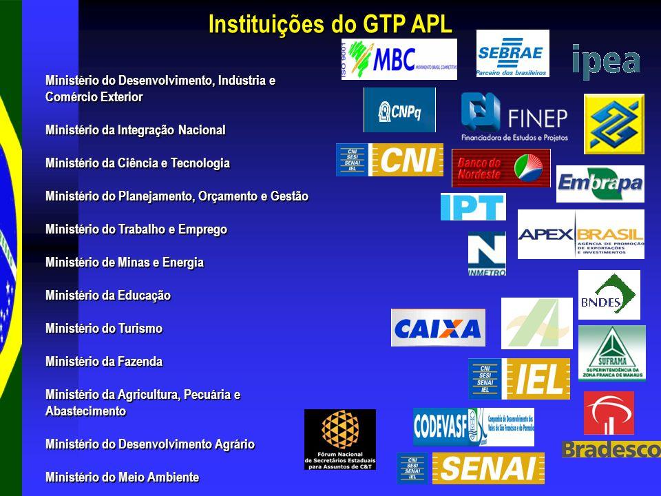 Ministério do Desenvolvimento, Indústria e Comércio Exterior Ministério da Integração Nacional Ministério da Ciência e Tecnologia Ministério do Planej
